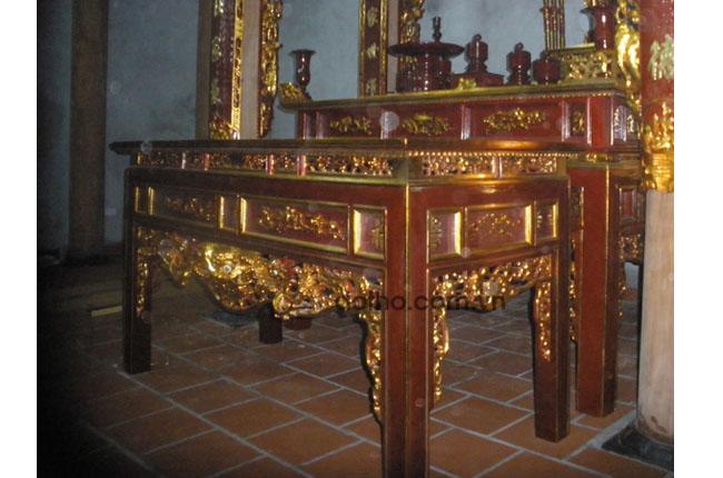 Án gian ở nhà thờ của Bác Lý huyện Yên Khánh , tỉnh Ninh Bình