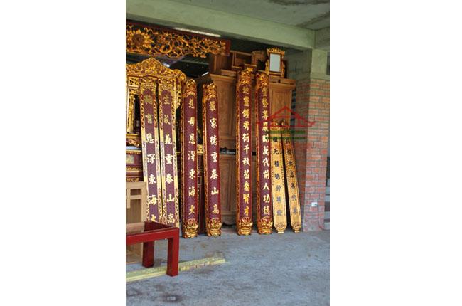 Câu đối gỗ mít chất lượng cao