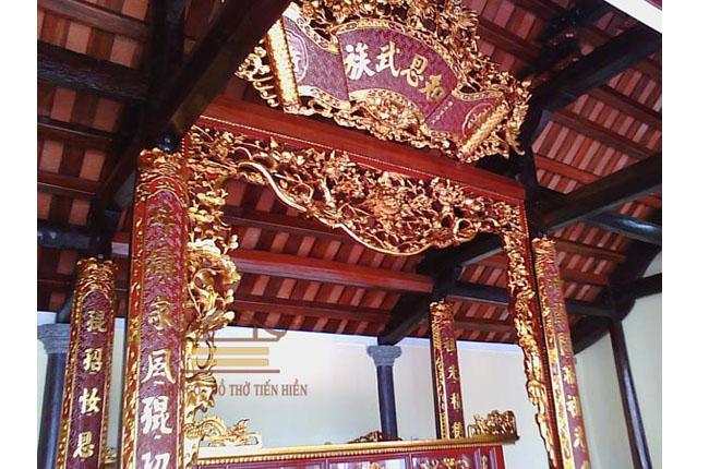 Cuốn thư, câu đối tại nhà Ông Vũ Đức Vanh (huyện Thái Thư, tỉnh Thái Bình)