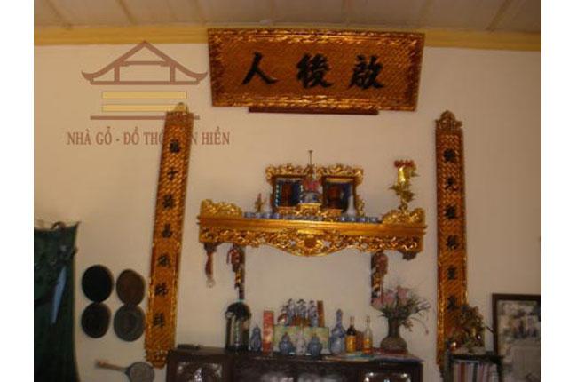 Hoành phi- câu đối nhà ở ông Thường xã Chàng Sơn, Thạch Thất, Hà Nội