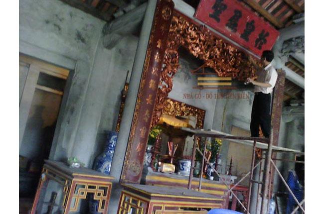 Thiều châu tại đình Ngui thôn Minh Khai xã Tiên Nữ, tỉnh Hưng Yên