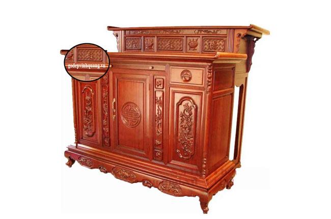 Tủ thờ 3 chất gỗ đẹp bóng