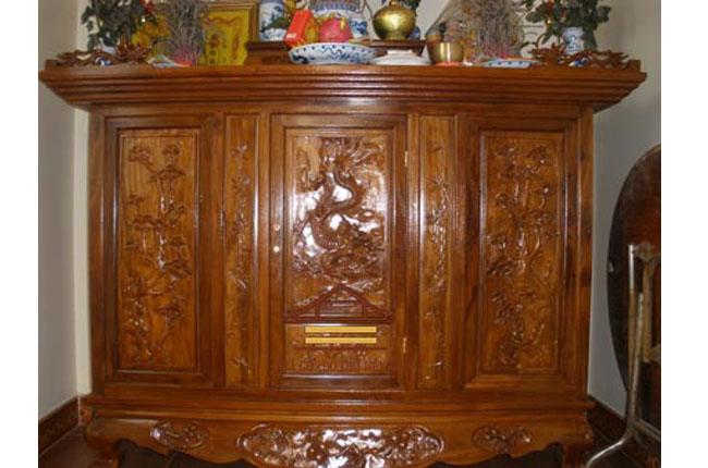 Tủ thờ Nhà thờ điện thờ nhà ông Trung , Văn Quán, Hà Đông, Hà Nội
